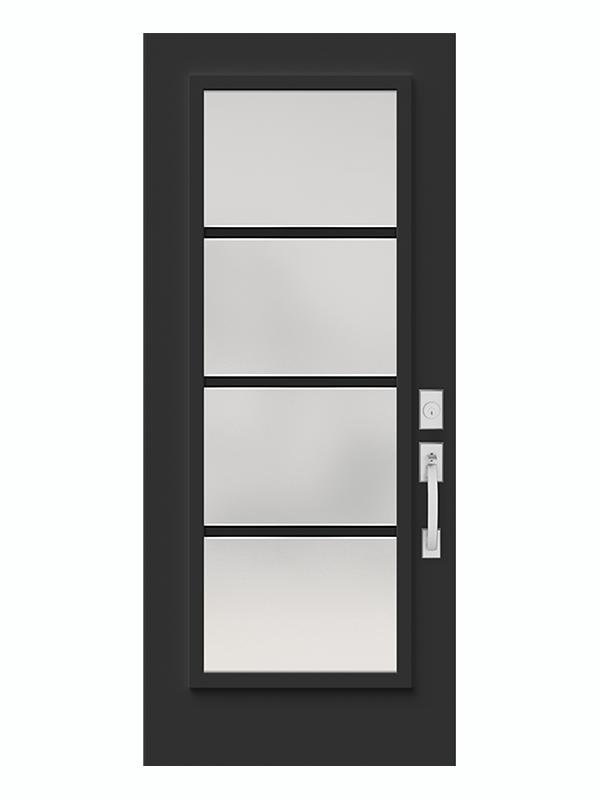 Fen tres de porte novatech portes fen tres nouvelle vision for Porte exterieur noir